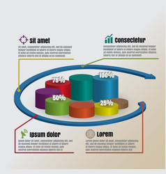 circle cylinder of business infographics vector image