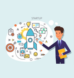 concept startup vector image