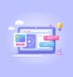 Concept web design website development vector