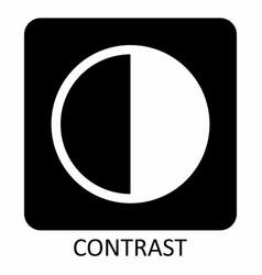 contrast icon symbol vector image