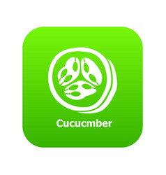 cucumber icon green vector image