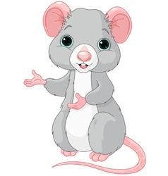 Cute Cartoon Rat vector image