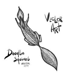 Doodle squirrel vector
