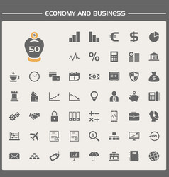 economy and business icons set vector image