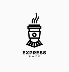 Express cafe logo vector