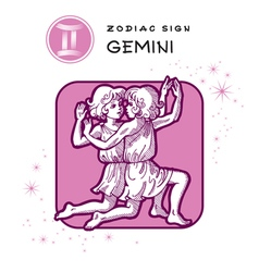 Gemini Astrology Sign vector image