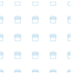gift icon pattern seamless white background vector image