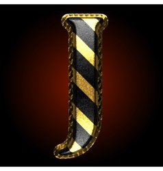 golden and black letter j vector image