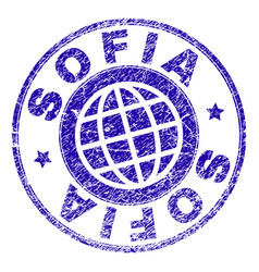 Grunge textured sofia stamp seal vector