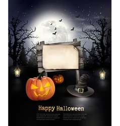 Halloween spooky background vector