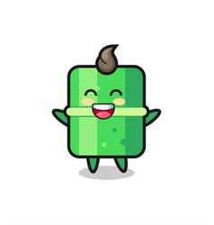 Happy baby bamboo cartoon character vector