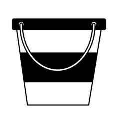 Ice bucket utensil vector