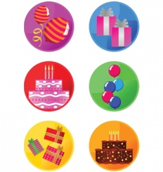 icons party vector image vector image