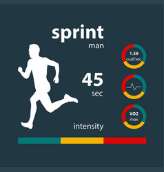 Infographics sprint male vector