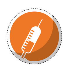 injection medical isolated icon vector image