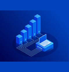 isometric growth and income concept innovation vector image