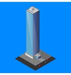 isometric skyscraper building vector image