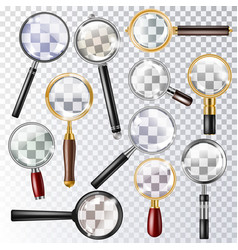 magnifying glass magnification zoom or vector image