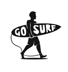 Man surfer vector