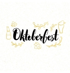 Oktoberfest Lettering Card vector
