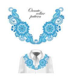 oriental ornament with paisley and fantasy flowers vector image