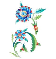 Ottoman art flowers ten vector