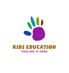 Palm kids education logo vector