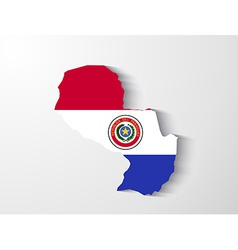 Paraguay map with shadow effect presentation vector
