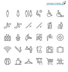 public information line icons editable stroke vector image