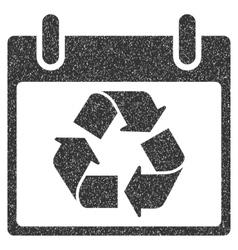 Recycle Calendar Day Grainy Texture Icon vector