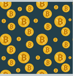 seamless bitcoin pattern vector image