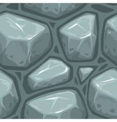 Seamless gray stone texture vector image