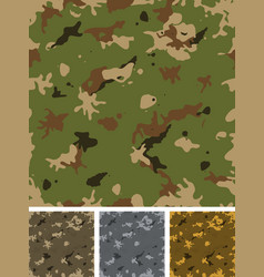 seamless military camouflage set vector image