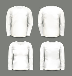Set of isolated long sleeve tunic or shirt vector