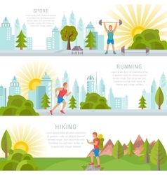 Set Sport and Fitness Banners vector