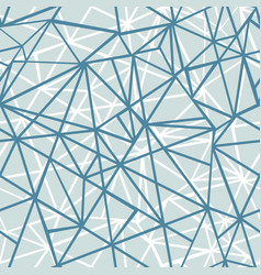 Silver grey blue wire geometric mosaic vector
