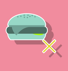 Sticker hamburger classic burger american vector