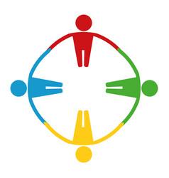 Teamwork abstract symbol vector