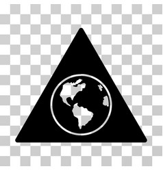terra triangle icon vector image