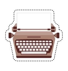 typewrite retro isolated icon vector image