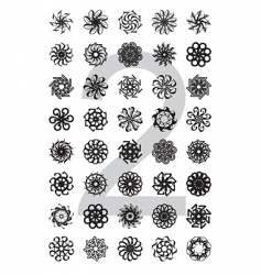 typo design element series vector image
