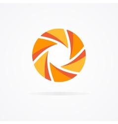 Unusual orange logo in form a spiral vector
