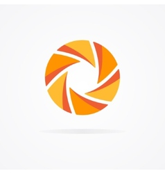 Unusual orange logo in the form of a spiral vector