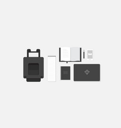 Workplace in flat style vector