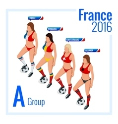 European football championship in France Group A vector image