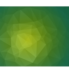 Green abstract polygonal background with geometric vector image vector image