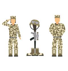 memorial battlefield cross american honor symbol vector image