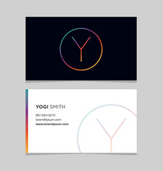 Business-card-letter-y vector