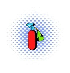 Fire extinguisher icon comics style vector image