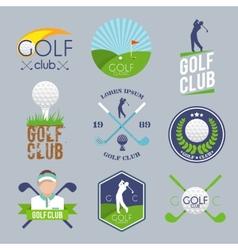 Golf label set vector image vector image